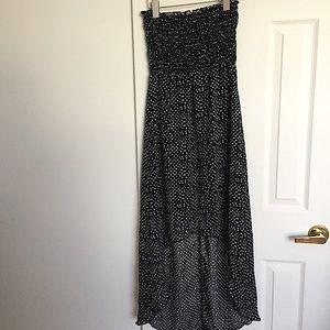 Strapless High Low Dress